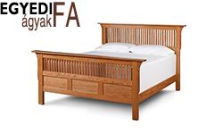 tömör fa ágykeretek egyedi méretben és színben